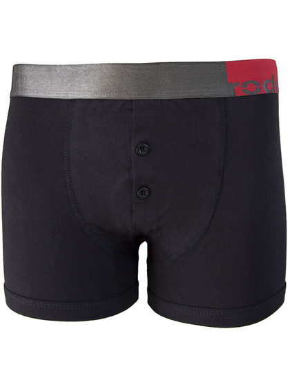 RodeoH Button Fly Boxer - Black