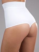 High Waist Shaping Thong - Vit