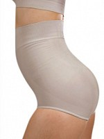 High Waist Shaping Panties - Beige