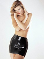 Latex Mini Skirt - Black